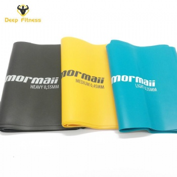 Premium natural latex resistance exercise band theraband set