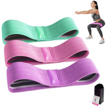 Resistance Bands Loop Set of 3 Exercise Workout Fitness Yoga Booty Hip Band