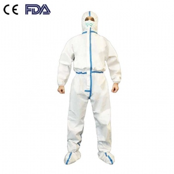 Safety anti-virus suit protective clothing PP PE unisex one-piece isolation suit
