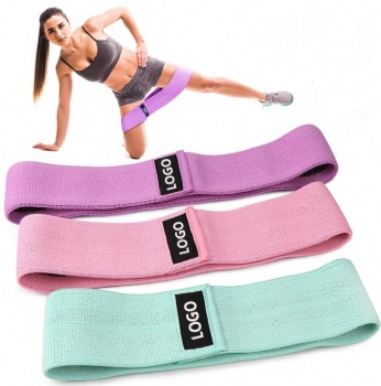 Set of 3 Exercise Stretch Hip Circle fabric bands with mesh bag