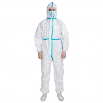 Stock Disposable Protective Clothing Safety Coverall Protective Suit