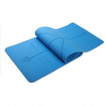 TPE Yoga Mat with Position Line Non Slip Carpet Mat Beginner Environmental Fitness Gymnastics Mats dual color