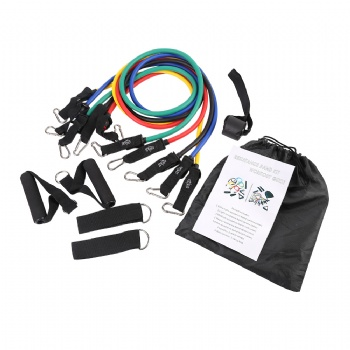 Training assisted pull up resistance bands with door anchor, 11pcs resistance tube for workout