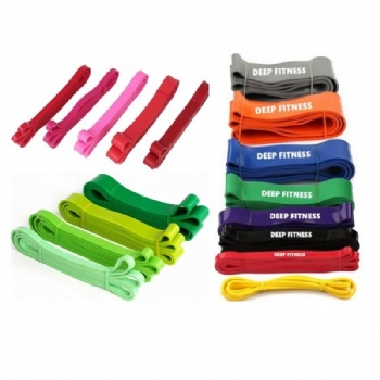 Whole Sale Latex Resistance Band Heavy Duty Assisted Multi Gym Resistance Band Set