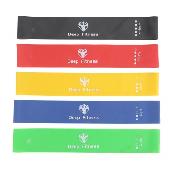 Wholesale Mini 100% natural Latex Exercise Fitness Band Resistance Loop bands