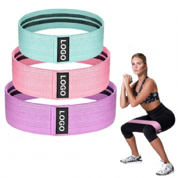 Wholesale fabric exercise bands hip circle band resistance elastic cotton custom logo booty bands set