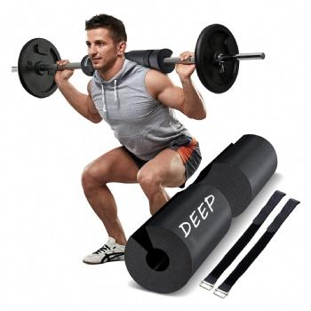 Wholesale workout gym fitness weightlifting protective shoulder neck custom logo print eva foam squat barbell pad