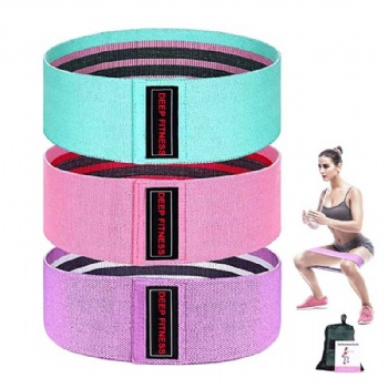 Women Hip Strength Training Fabric Booty Bands, Home Fitness Hip Circle Wide Anti Slip Exercise Resistance Bands)