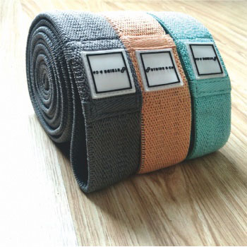 Workout booty exercise fabric elastic resistance bands with customer logo