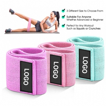 custom logo  fitness booty band hip circle resistance loop band set