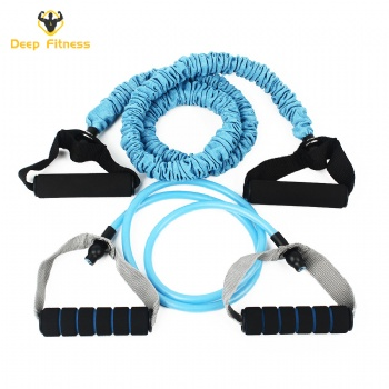 full set handles door anchor ankle straps carry bag tpe tube resistance band set