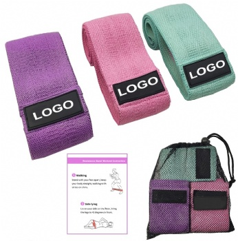 high quality Customized Color Fitness Exercise Fabric resistance bands