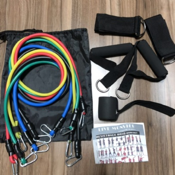 hot selling fitness latex 11pcs Resistance Band and tube Set