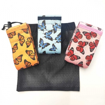 hot selling resistance bands wholesale butterfly Print Fabric Hip Resistance Band