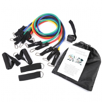 latex elastic fitness strength training combination pack 11 pcs resistance bands