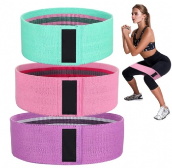 workout fitness booty band hip circle resistance loop band set